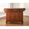 Cambridge Solid Granite Top Kitchen Island - Classic Cherry - CROS-KF30003DCH