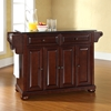Alexandria Solid Black Granite Top Kitchen Island - Vintage Mahogany - CROS-KF30004AMA
