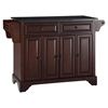 LaFayette Kitchen Island - Black Granite Top, Vintage Mahogany - CROS-KF30004BMA