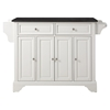 LaFayette Kitchen Island - Black Granite Top, White Finish - CROS-KF30004BWH