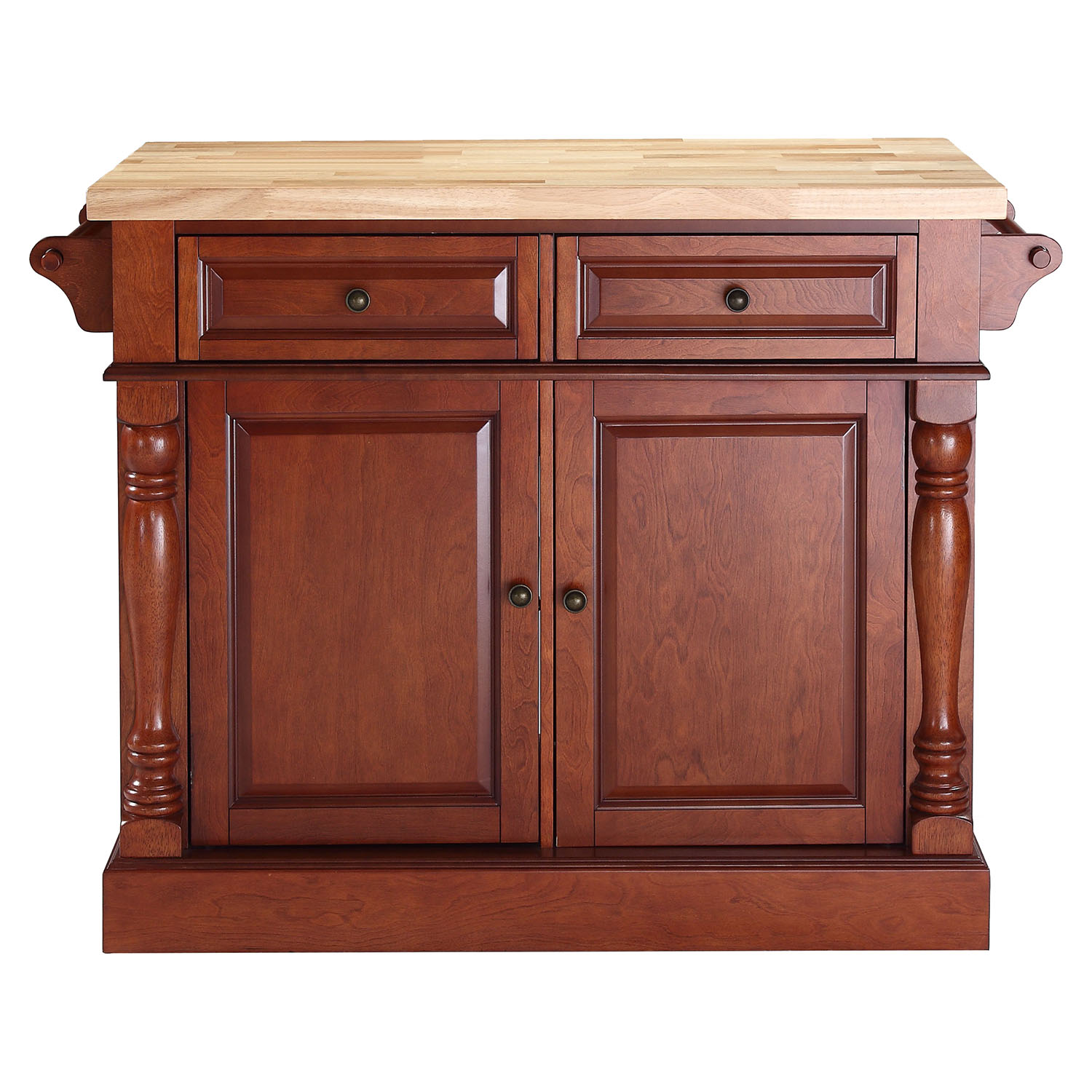 Haleakala Kitchen Island With Butcher Block Top : Butcher Block Top Kitchen Island - Classic Cherry DCG Stores