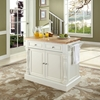 Butcher Block Top Kitchen Island - White - CROS-KF30006WH
