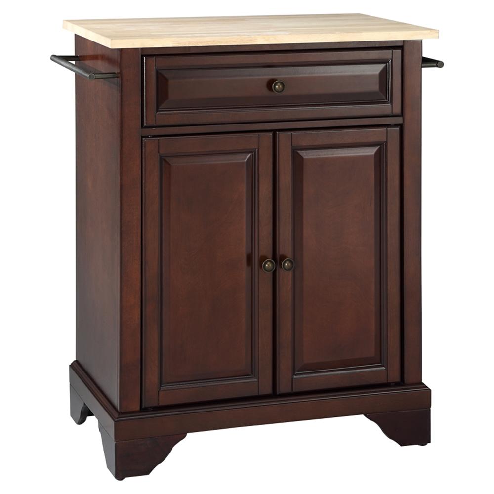 Kitchen Wood Top: Natural Wood Top, Portable