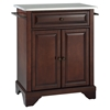 LaFayette Kitchen Island - Stainless Steel Top, Portable, Vintage Mahogany - CROS-KF30022BMA