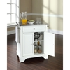 LaFayette Kitchen Island - Stainless Steel Top, Portable, White - CROS-KF30022BWH