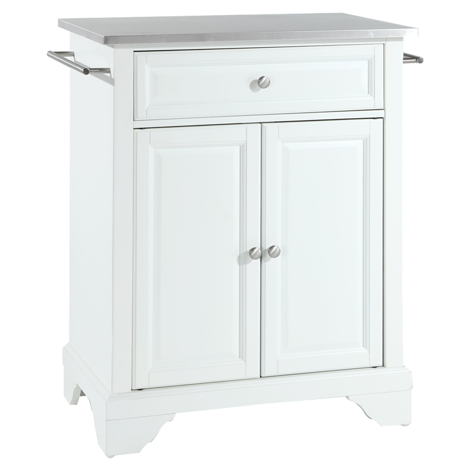 white kitchen island with stainless steel top quicua com