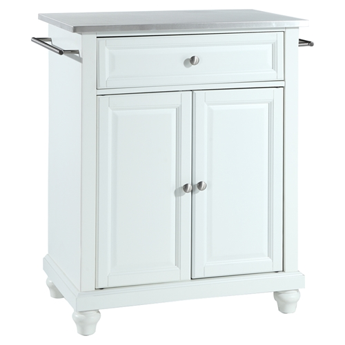 astonishing white portable kitchen islands | Cambridge Kitchen Island - Stainless Steel Top, Portable ...