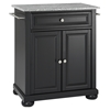 Alexandria Solid Granite Top Portable Kitchen Island - Black - CROS-KF30023ABK
