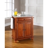Cambridge Kitchen Island - Granite Top, Portable, Classic Cherry - CROS-KF30023DCH