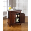 Cambridge Kitchen Island - Granite Top, Portable, Vintage Mahogany - CROS-KF30023DMA