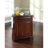 LaFayette Solid Black Granite Top Portable Kitchen Island - Mahogany - CROS-KF30024BMA