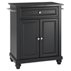 Cambridge Solid Black Granite Top Portable Kitchen Island - Black - CROS-KF30024DBK