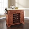 LaFayette Natural Wood Top Wine Island - Classic Cherry - CROS-KF31001BCH