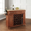 Cambridge Natural Wood Top Wine Island - Classic Cherry - CROS-KF31001DCH