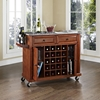 Solid Granite Top Wine Cart - Classic Cherry - CROS-KF31003ECH