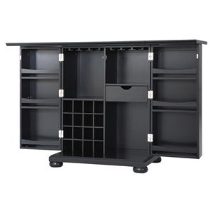 Alexandria Expandable Bar Cabinet - Black