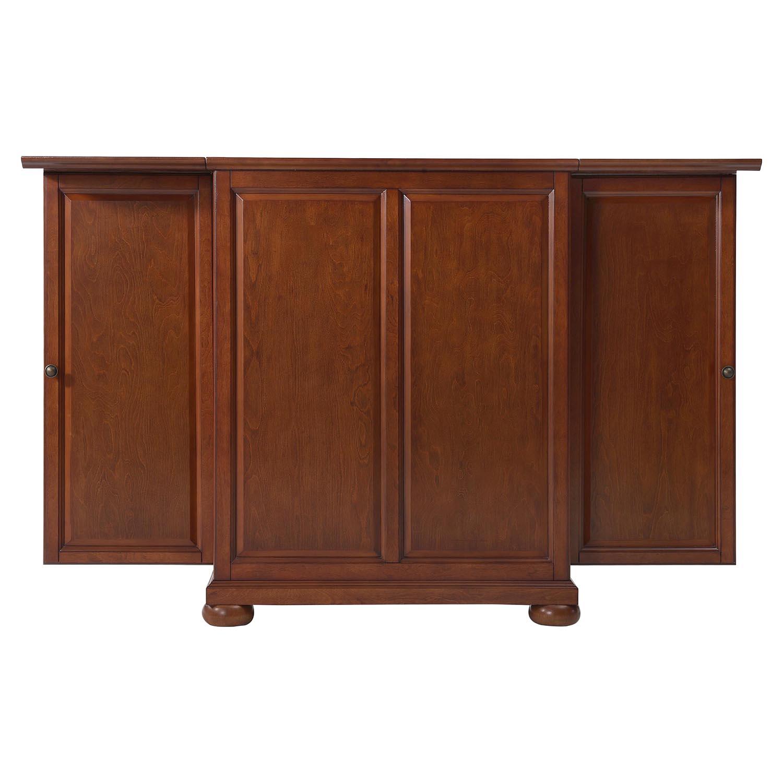 Alexandria Expandable Home Bar Liquor Cabinet: Alexandria Expandable Bar Cabinet - Classic Cherry