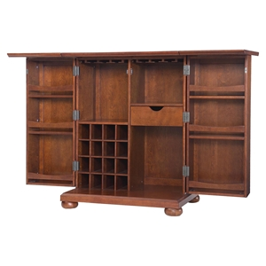 Alexandria Expandable Bar Cabinet - Classic Cherry
