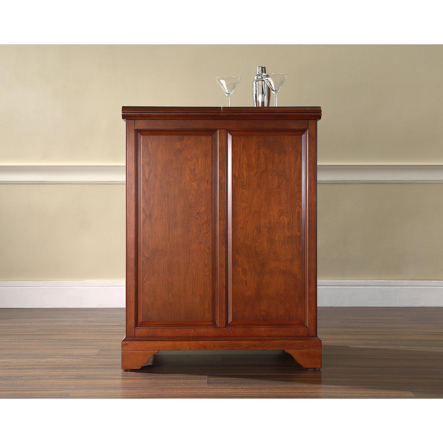LaFayette Expandable Bar Cabinet - Classic Cherry - CROS-KF40001BCH