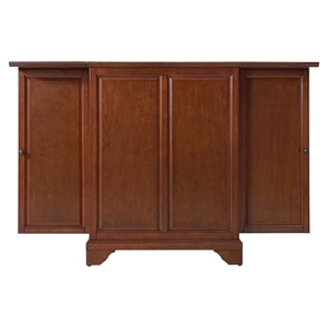 LaFayette Expandable Bar Cabinet - Classic Cherry