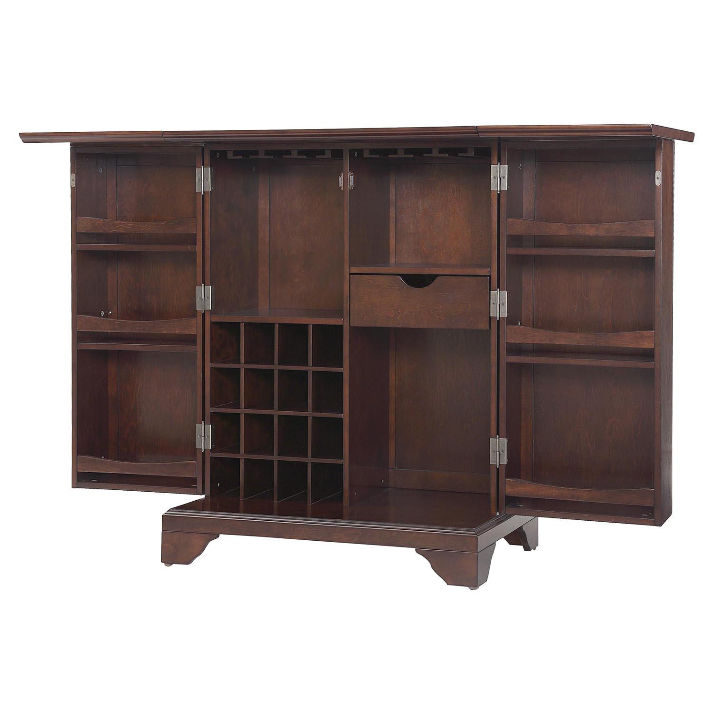 Lafayette Expandable Bar Cabinet Vintage Mahogany Dcg