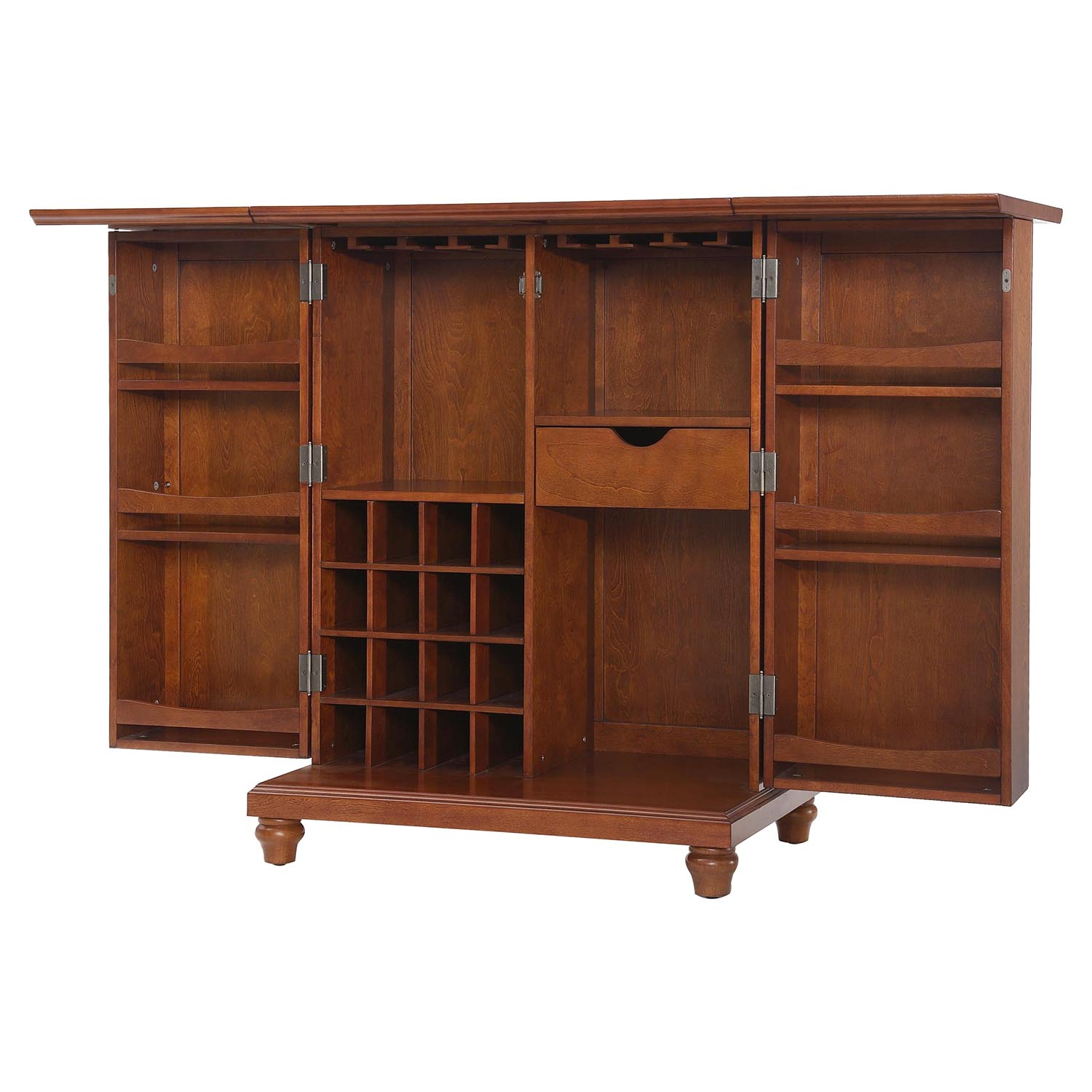 Cambridge Expandable Bar Cabinet - Classic Cherry - CROS-KF40001DCH