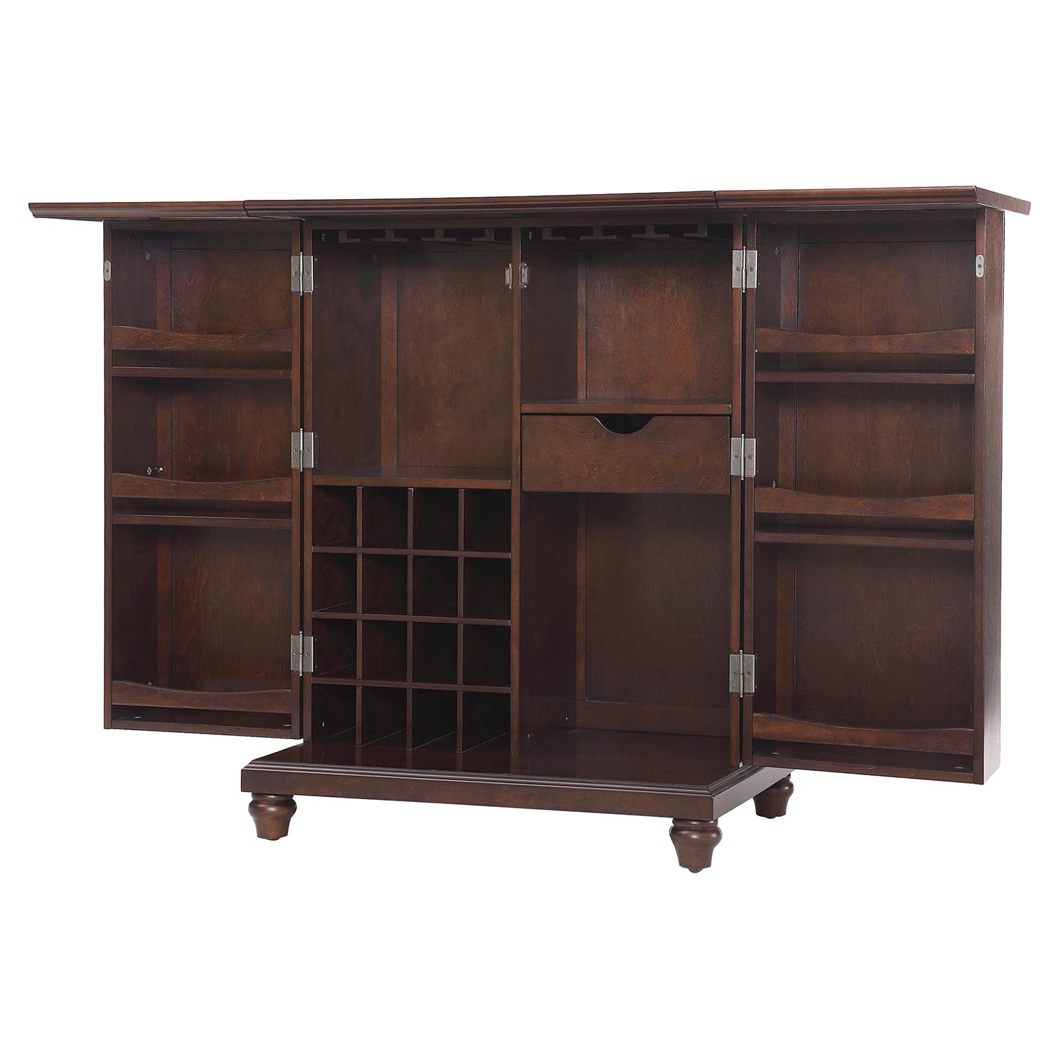Cambridge Expandable Bar Cabinet - Vintage Mahogany - CROS-KF40001DMA