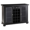 Alexandria Sliding Top Bar Cabinet - Black - CROS-KF40002ABK