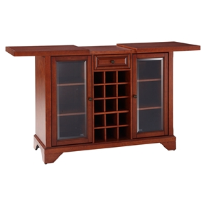 LaFayette Sliding Top Bar Cabinet - Classic Cherry