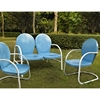 Griffith 3-Piece Conversation Seating Set - Blue - CROS-KO10002BL