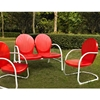 Griffith 3-Piece Conversation Seating Set - Red - CROS-KO10002RE