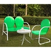 Griffith 3-Piece Conversation Seating Set - Green Chairs and Loveseat - CROS-KO10003GR