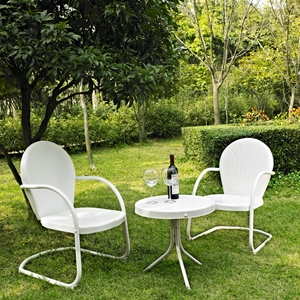 Griffith 3-Piece Conversation Seating Set - White