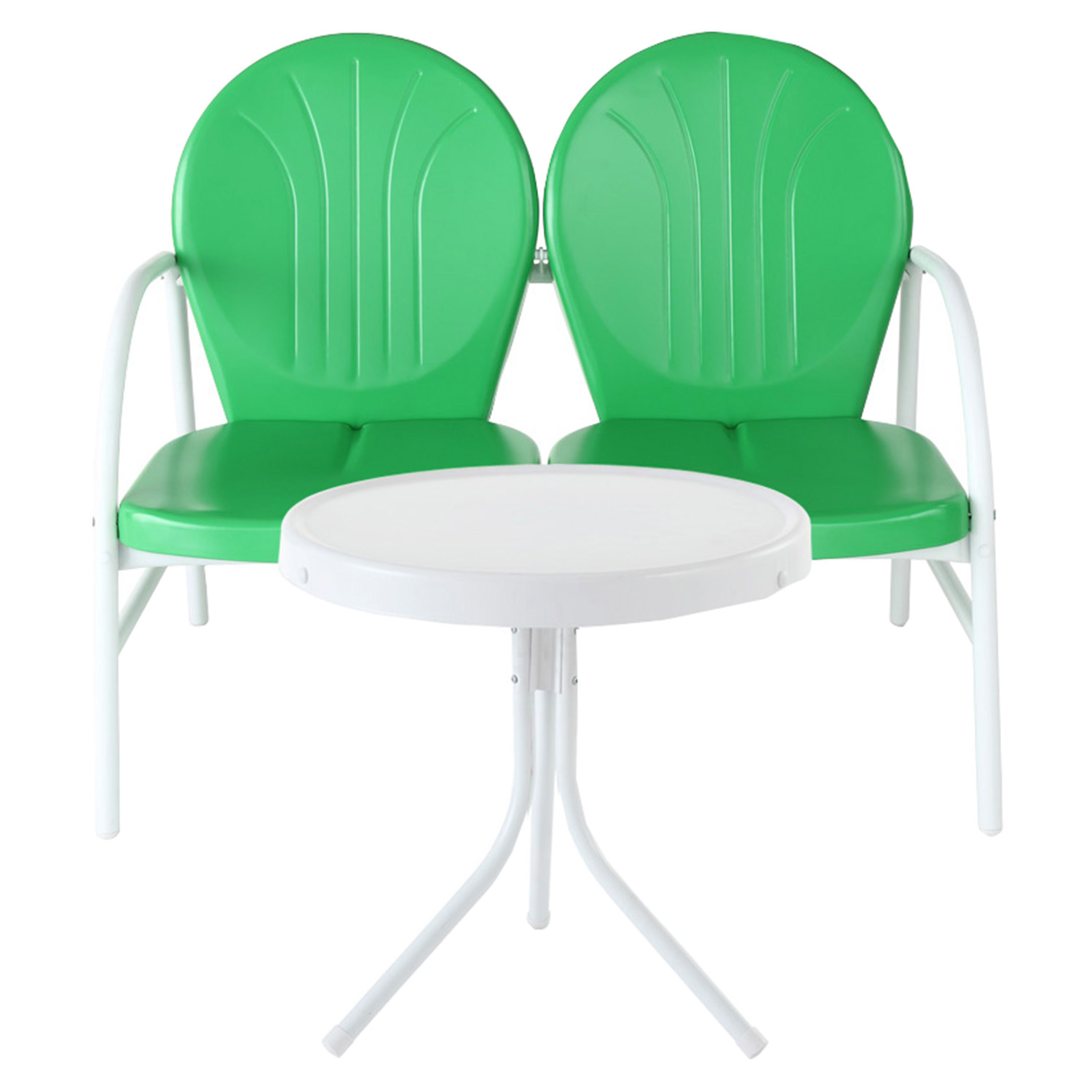 Griffith 2 Piece Conversation Seating Set Green Loveseat