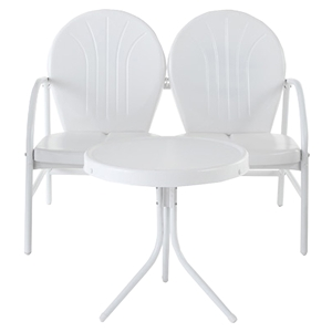 Griffith 2 Piece Conversation Seating Set - White