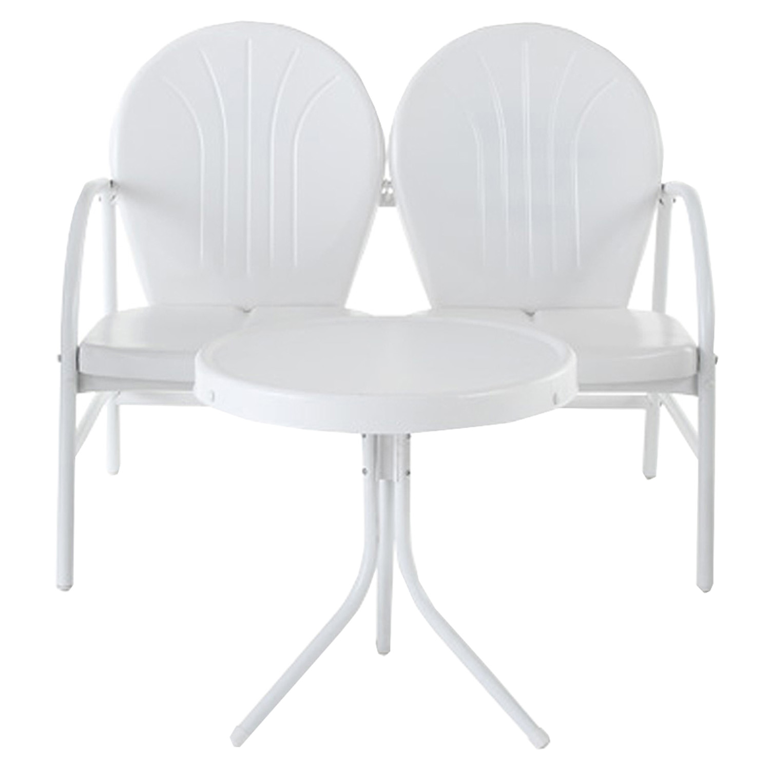 Griffith 2 Piece Conversation Seating Set - White - CROS-KO10006WH