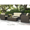 Palm Harbor 4-Piece Outdoor Wicker Seating Set - Dark Brown - CROS-KO70001BR