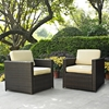 Palm Harbor 2-Piece Wicker Seating Set - Dark Brown - CROS-KO70005BR