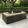 Palm Harbor 6-Piece Outdoor Wicker Seating Set - Dark Brown - CROS-KO70007BR