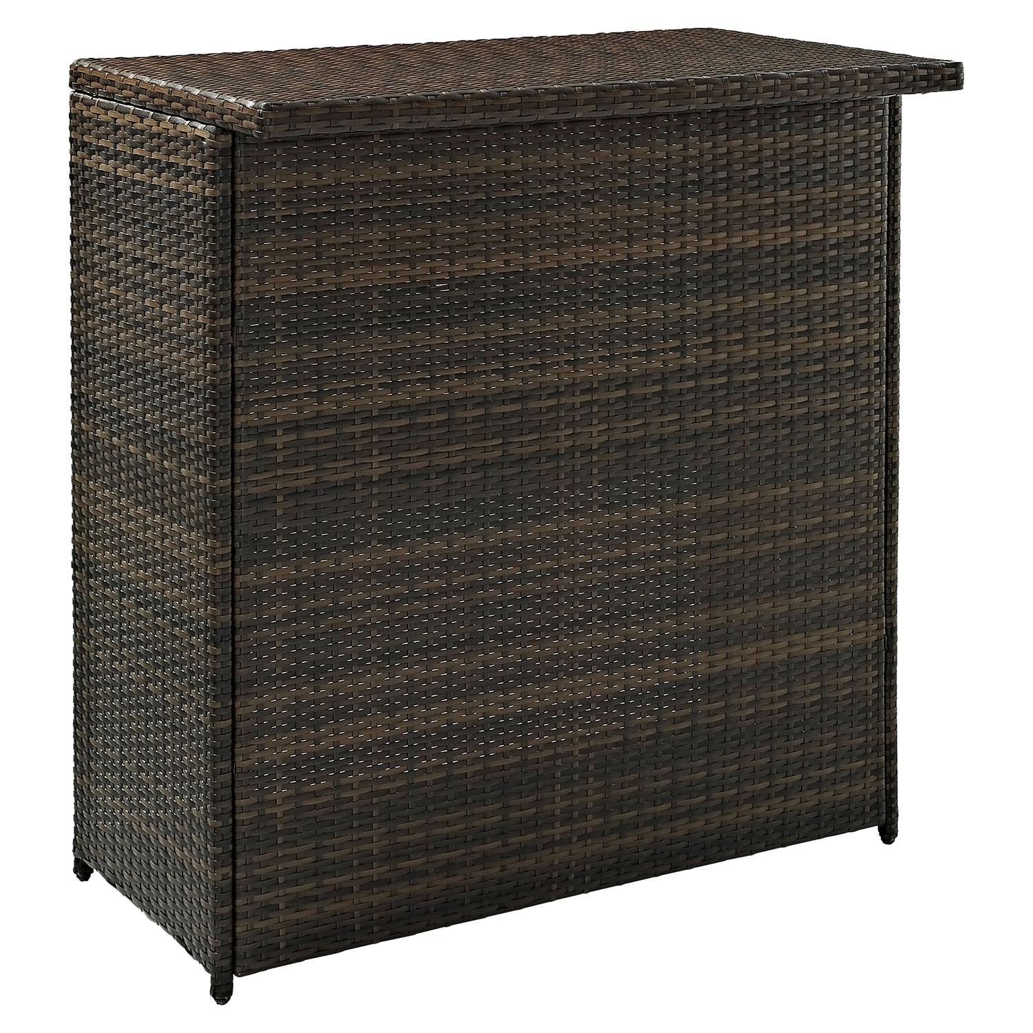 Palm Harbor 3-Piece Outdoor Wicker Bar Set - Dark Brown - CROS-KO70009BR