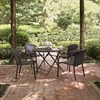 Palm Harbor 5-Piece Cafe Dining Set - Dark Brown - CROS-KO70012BR