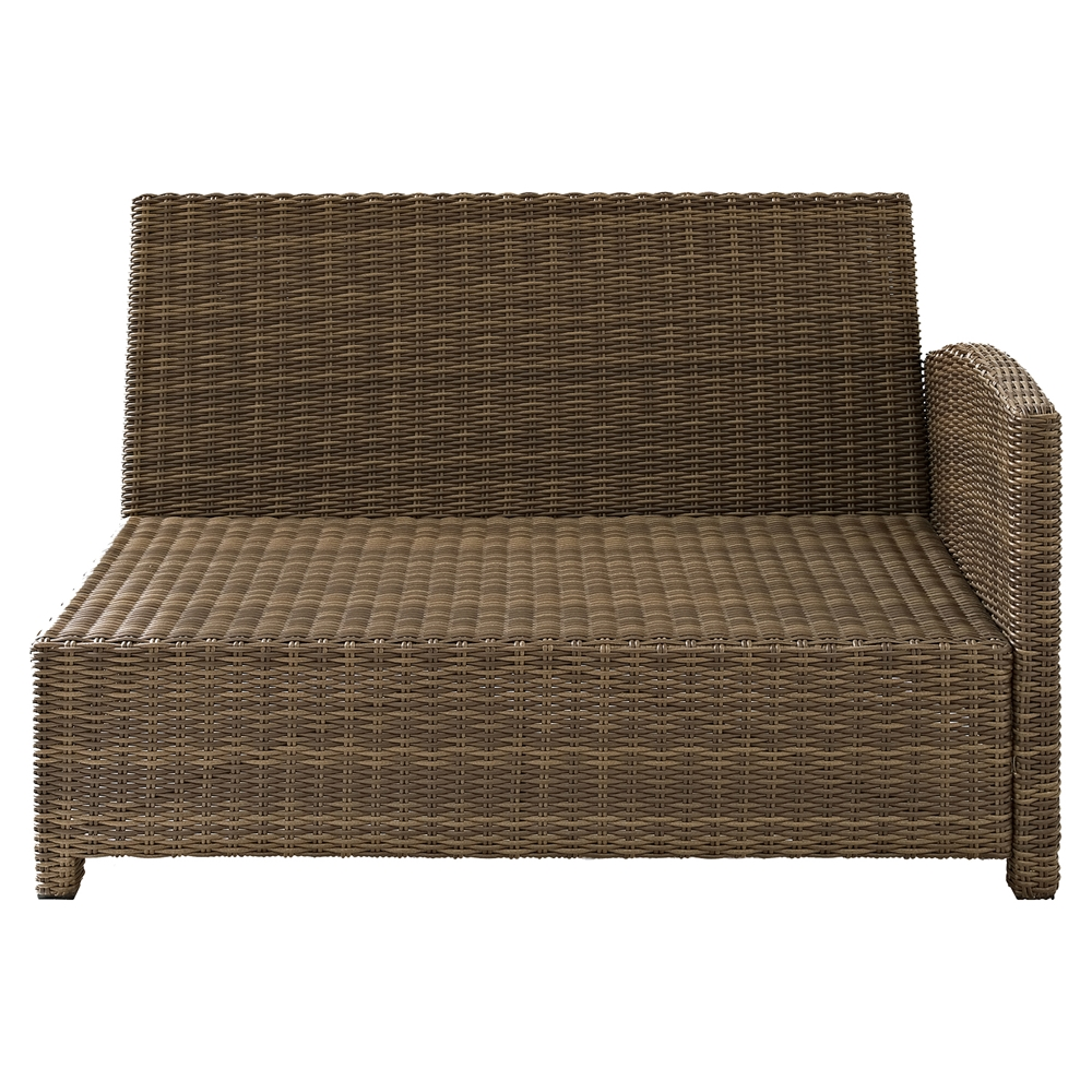 Bradenton Outdoor Wicker Sectional Right Corner Loveseat Sangria Cushions Dcg Stores