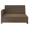 Bradenton Outdoor Wicker Sectional Left Corner Loveseat - Sand Cushions - CROS-KO70016WB-SA