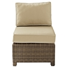 Bradenton Outdoor Wicker Sectional Center Chair - Sand Cushions - CROS-KO70017WB-SA