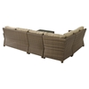 Bradenton 5-Piece Outdoor Seating Set - Sand Cushions, Light Brown Wicker - CROS-KO70020WB-SA