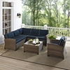 Bradenton 5-Piece Wicker Seating Set - Navy Cushions - CROS-KO70021WB-NV