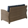 Bradenton Outdoor Wicker Loveseat - Navy Cushions - CROS-KO70022WB-NV