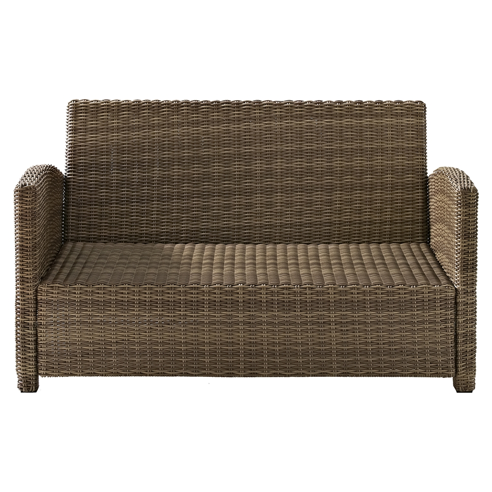 Bradenton outdoor wicker loveseat sangria cushions dcg stores Loveseat cushions outdoor