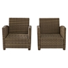 Bradenton 2-Piece Wicker Seating Set - Navy Cushions - CROS-KO70026WB-NV