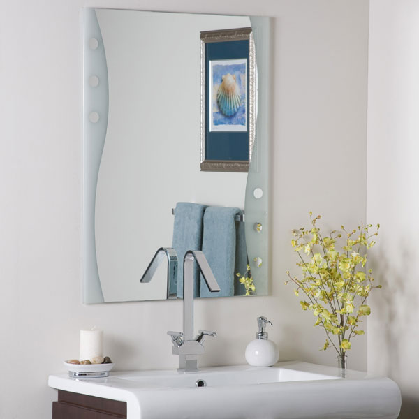 Fabulous Modern Frameless Bathroom Mirror